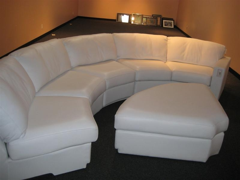 Circular Sectional Sofas Within Most Recent White Curved Couches And Sofas — Cabinets, Beds, Sofas And (View 4 of 10)