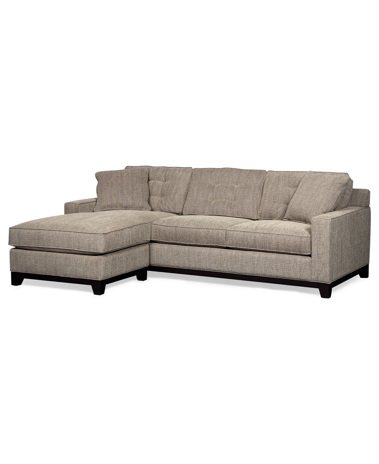 Clarke Fabric 2 Piece Sectional Queen Sleeper Sofa Bed – Shop All With Best And Newest Chaise Lounge Chairs At Macy's (View 10 of 15)
