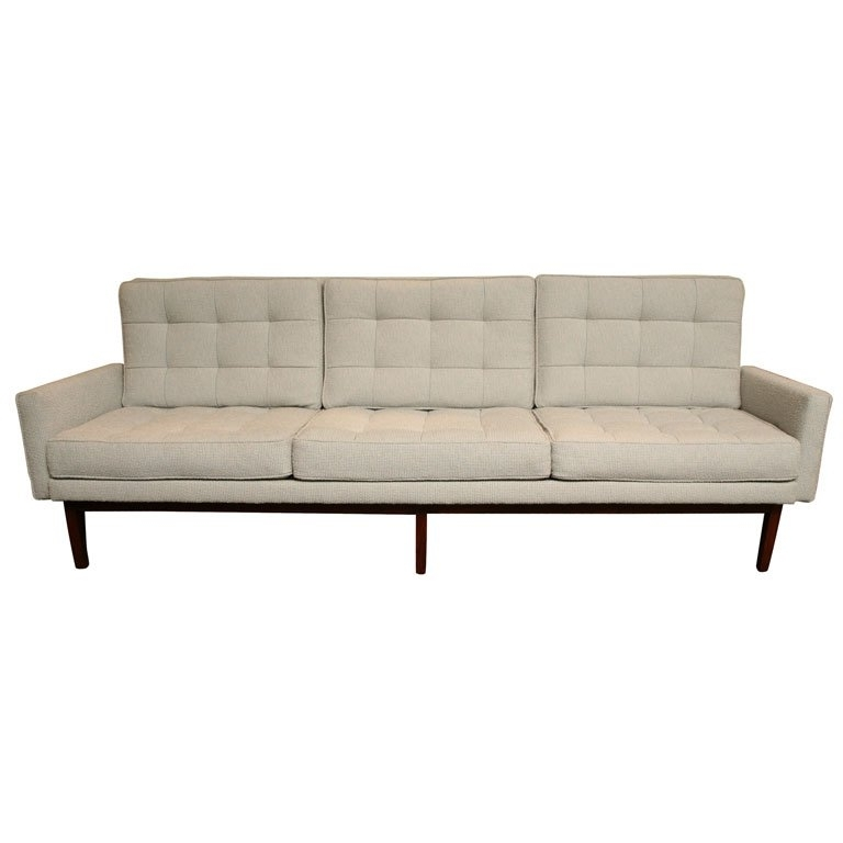 Classic Florence Knoll 57w Sofa At 1stdibs With Popular Florence Knoll Wood Legs Sofas (View 2 of 10)