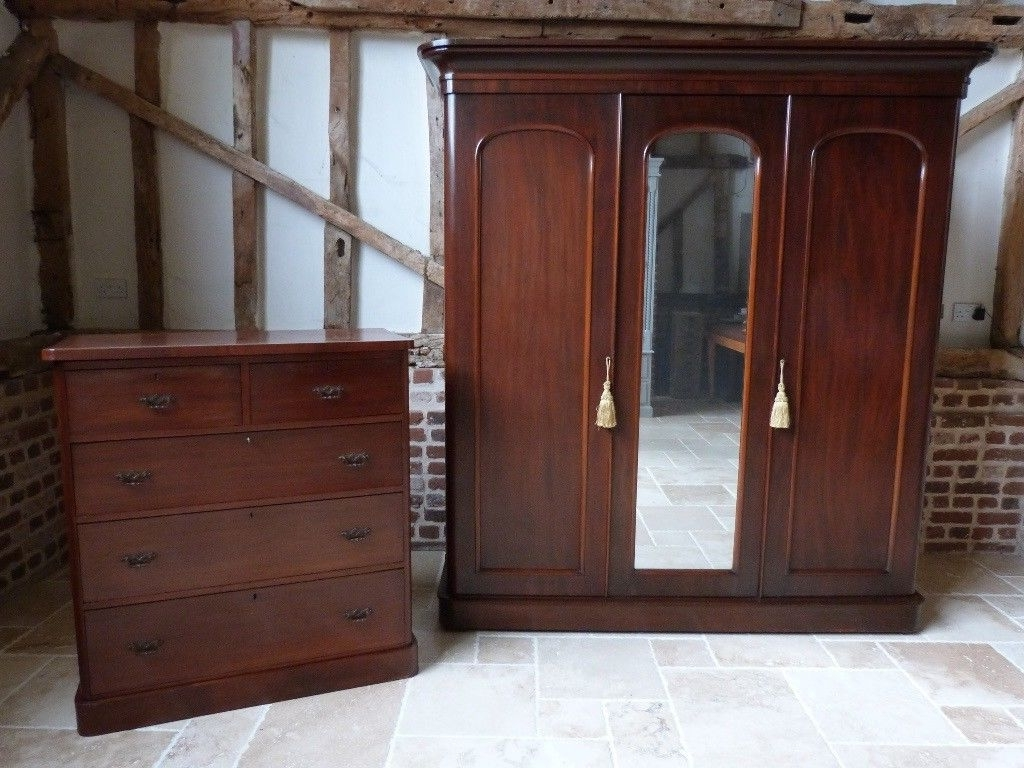 Classic Victorian Triple Linen Press Wardrobe With Victorian 2 Throughout Well Known Victorian Wardrobes (View 3 of 15)