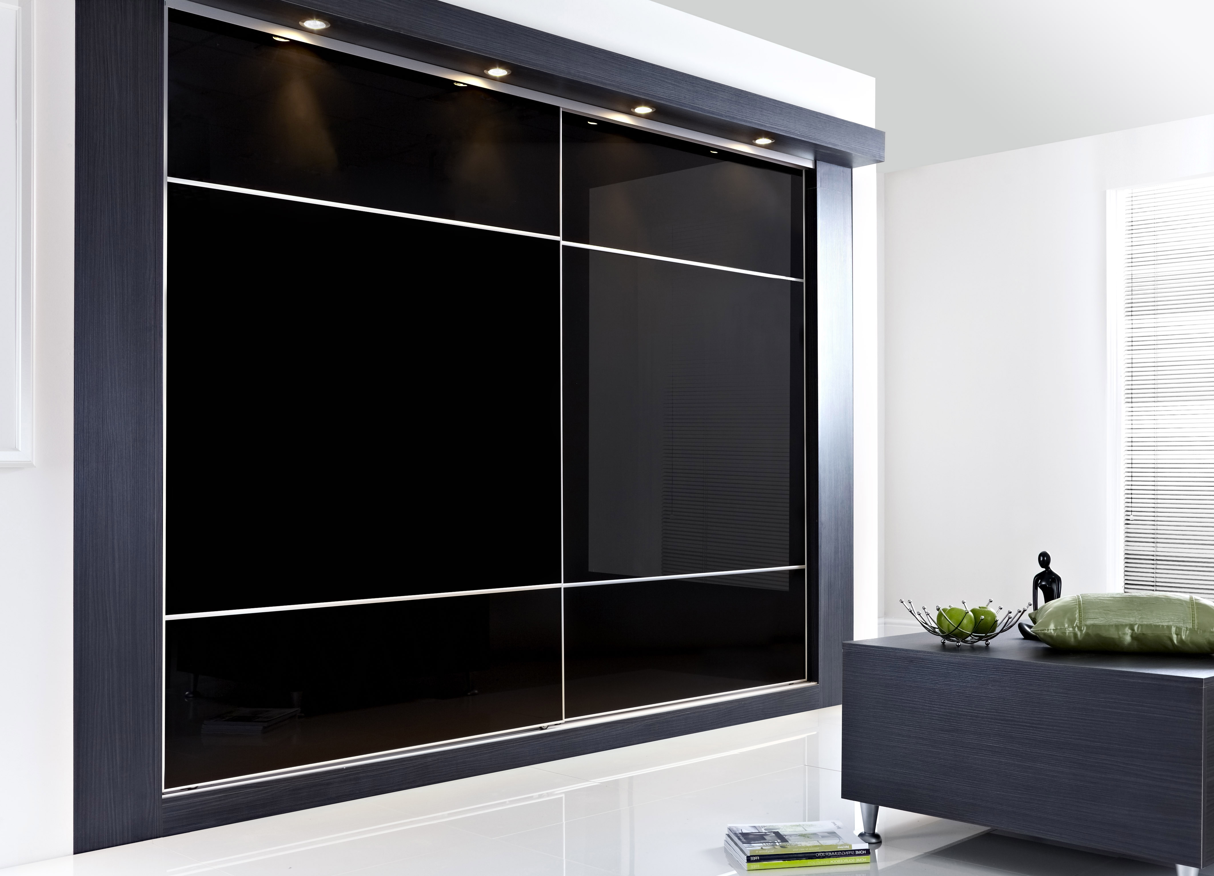 Closet For Fashionable Black Glass Wardrobes (View 7 of 15)