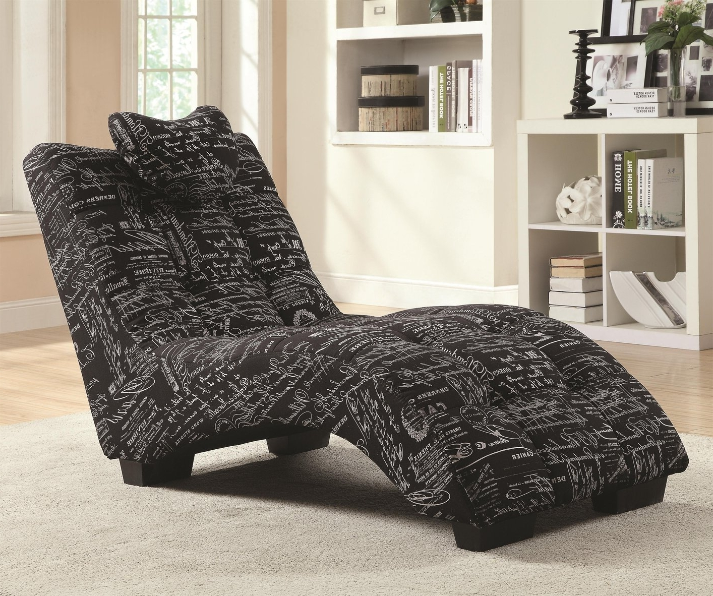 Coaster Chaise Lounges For Famous Black Fabric Chaise Lounge – Steal A Sofa Furniture Outlet Los (View 8 of 15)