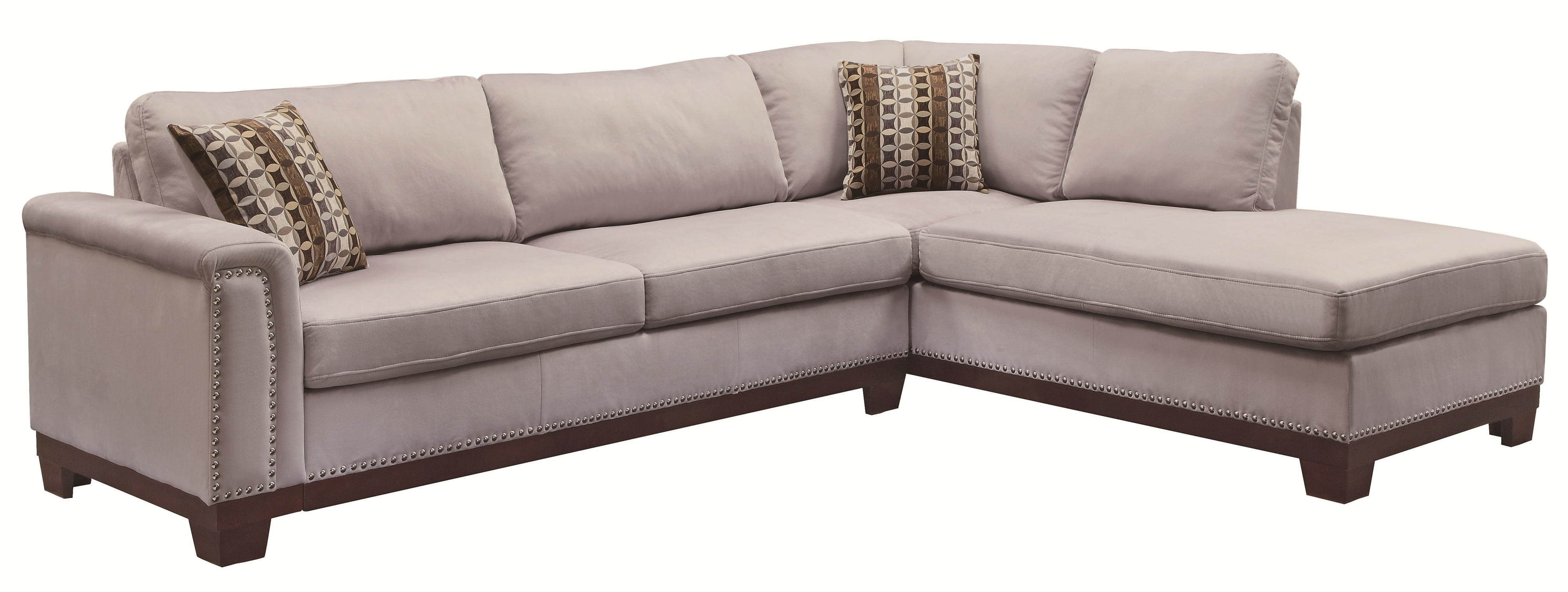 Coaster Mason 503615 Track Arm Reversible Sofa Chaise Sectional For Newest Sofas With Chaise (View 3 of 15)