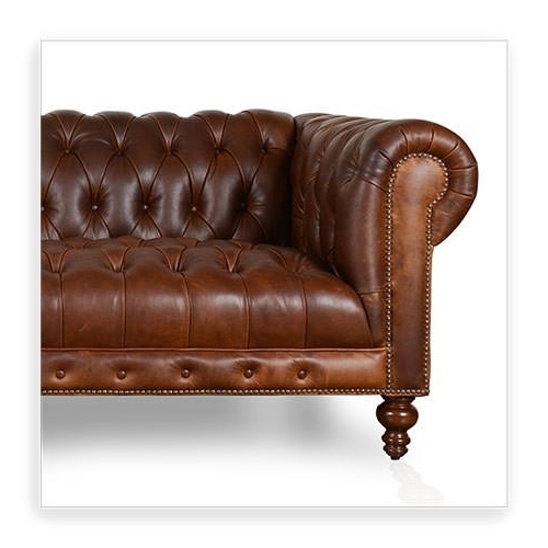 Cococo Custom Chesterfield Leather Tufted Sofas – Made In Usa With Fashionable Tufted Leather Chesterfield Sofas (View 2 of 10)