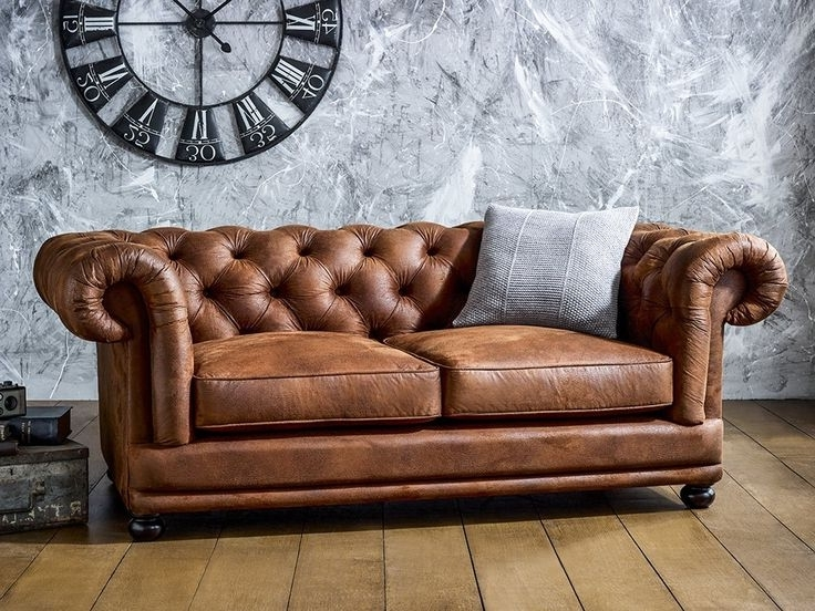 Collection In Chesterfield Tufted Leather Sofa – Interiorvues Intended For 2017 Tufted Leather Chesterfield Sofas (View 7 of 10)