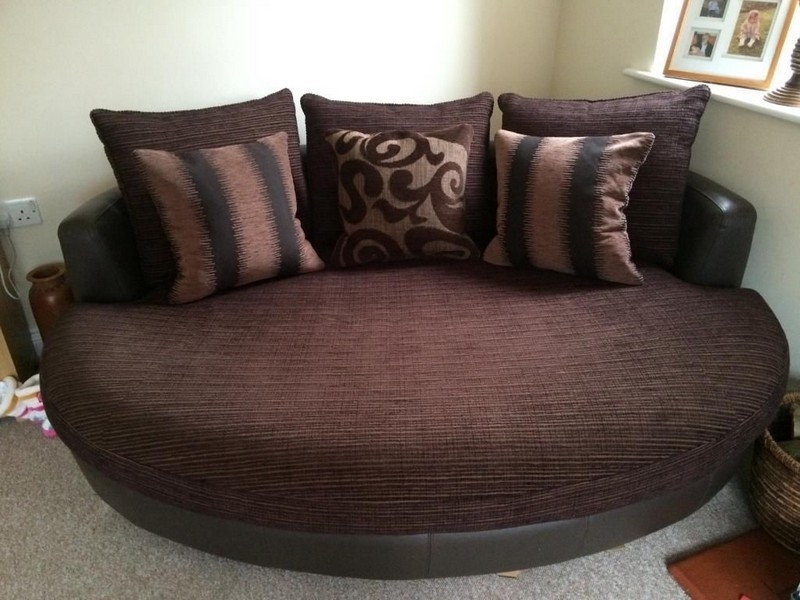 Collection In Swivel Chair Sofa Sonia Corner Sofa Swivel Chair With Most Current Sofas With Swivel Chair (View 2 of 10)
