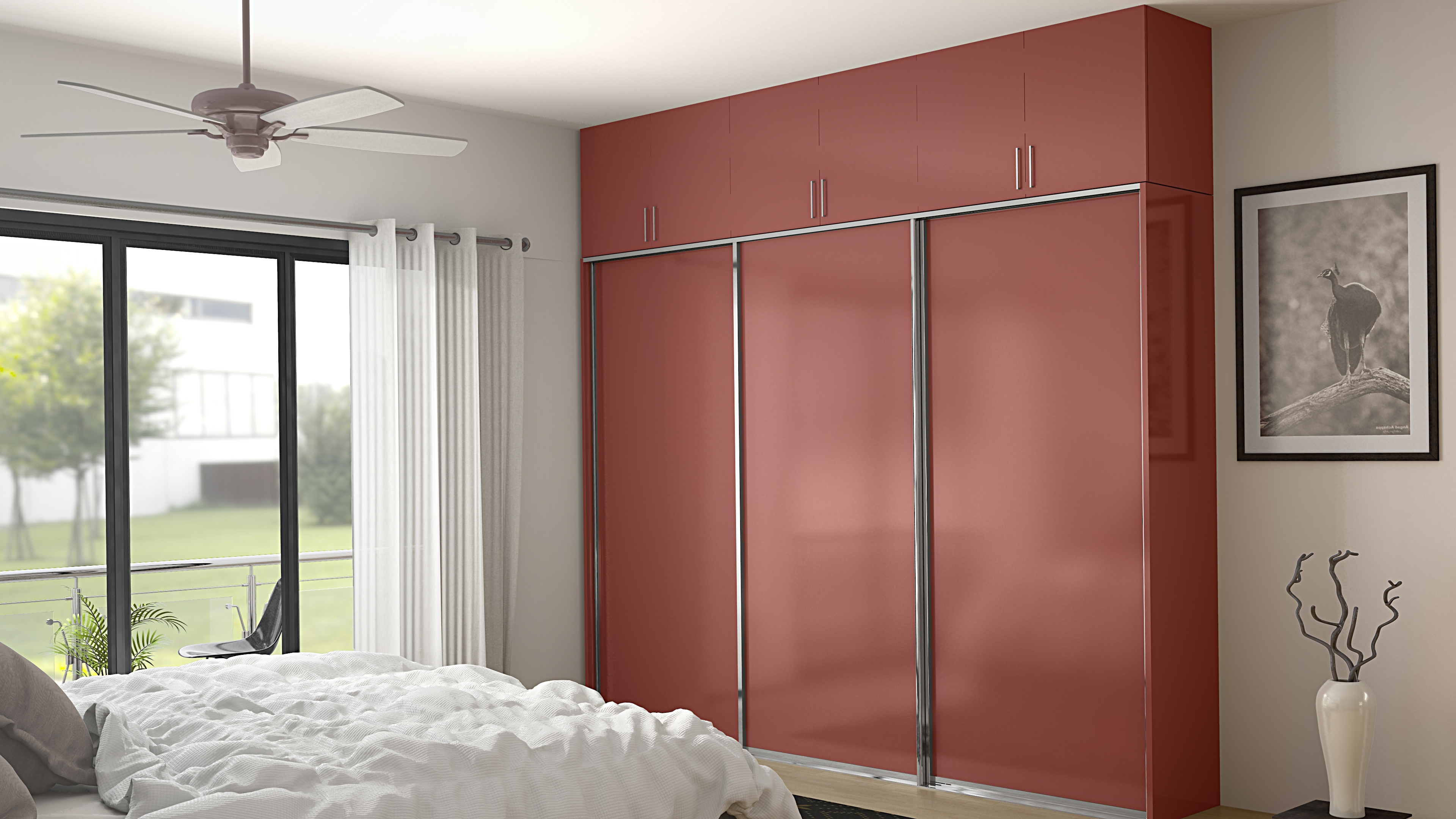 Coloured Wardrobes With Regard To Most Current 6 Trendy Wardrobe Door Designs From Homelane – Homelane Blog (View 7 of 15)