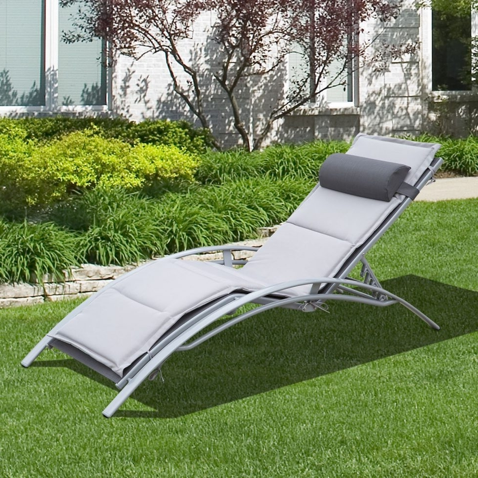 Comfortable Outdoor Chaise Lounge Chairs With Most Recent Lounge Chair : Outdoor Lounge Outdoor Sofa Outdoor Furniture (View 6 of 15)