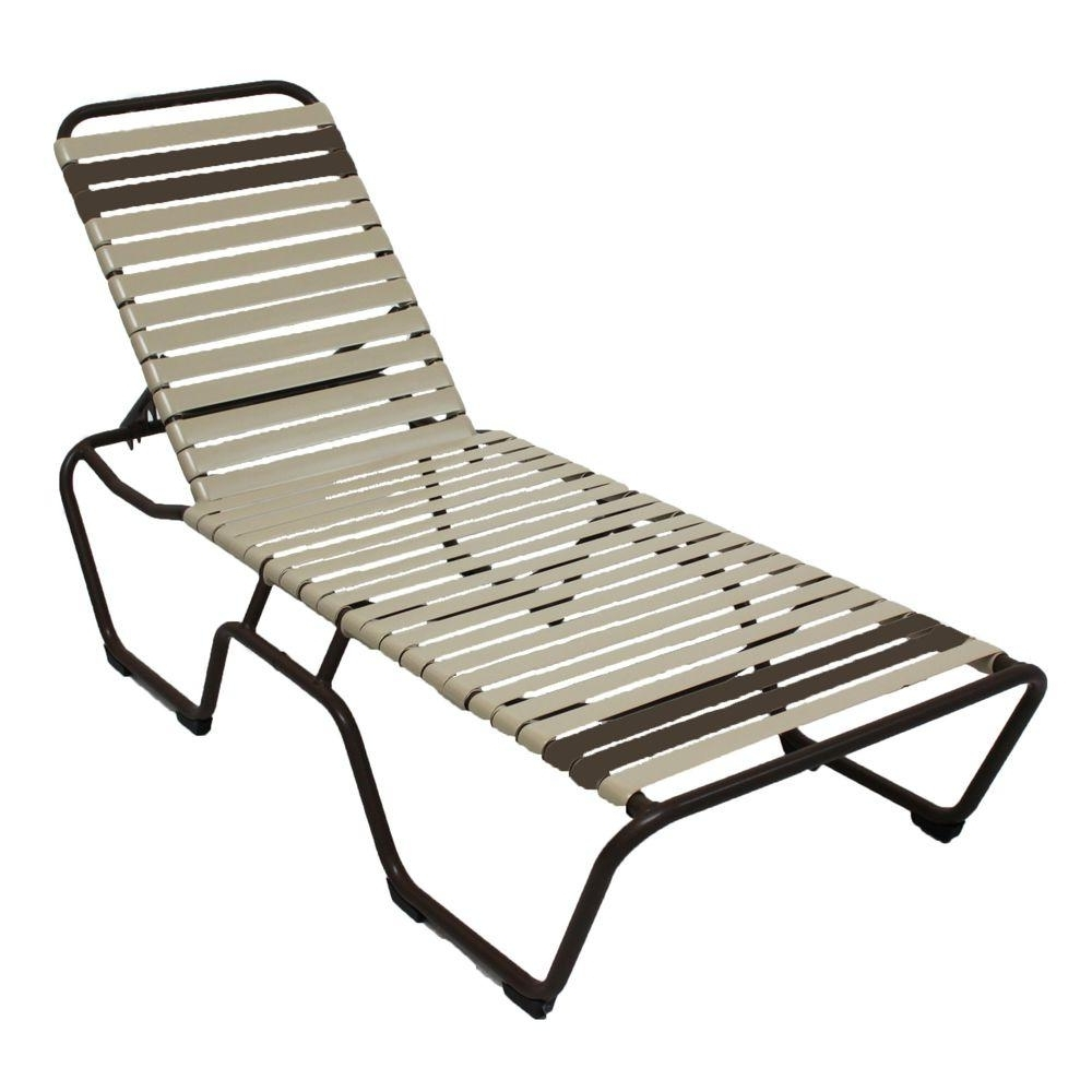 Commercial Grade Chaise Lounge Chairs Intended For Most Up To Date Stackable – Outdoor Chaise Lounges – Patio Chairs – The Home Depot (View 2 of 15)