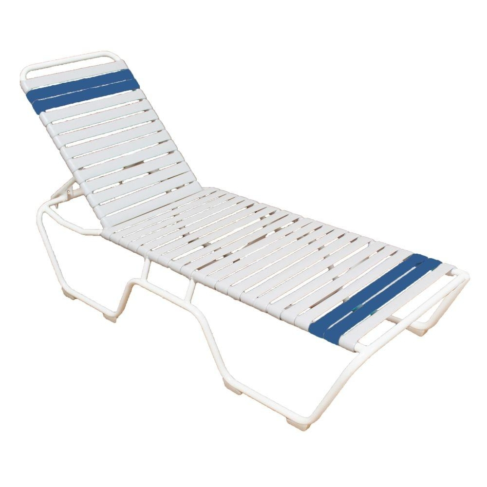 Commercial Grade Outdoor Chaise Lounge Chairs Inside Latest Marco Island White Commercial Grade Aluminum Vinyl Strap Outdoor (View 13 of 15)