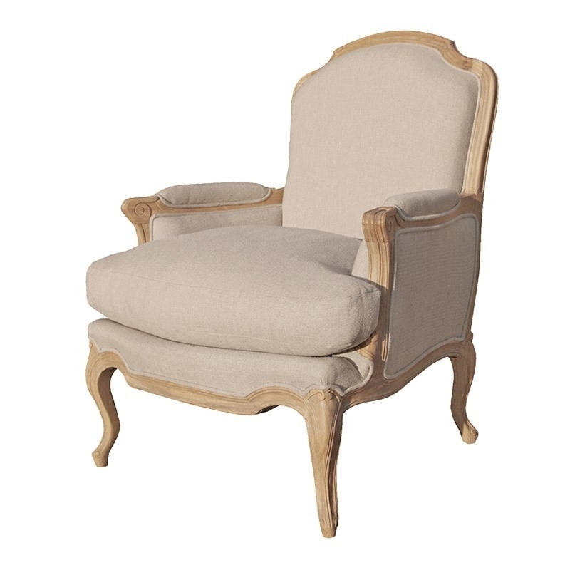 Contemporary Oak Armchair Pertaining To Most Recent French Style Sofas  (View 2 Of 10)