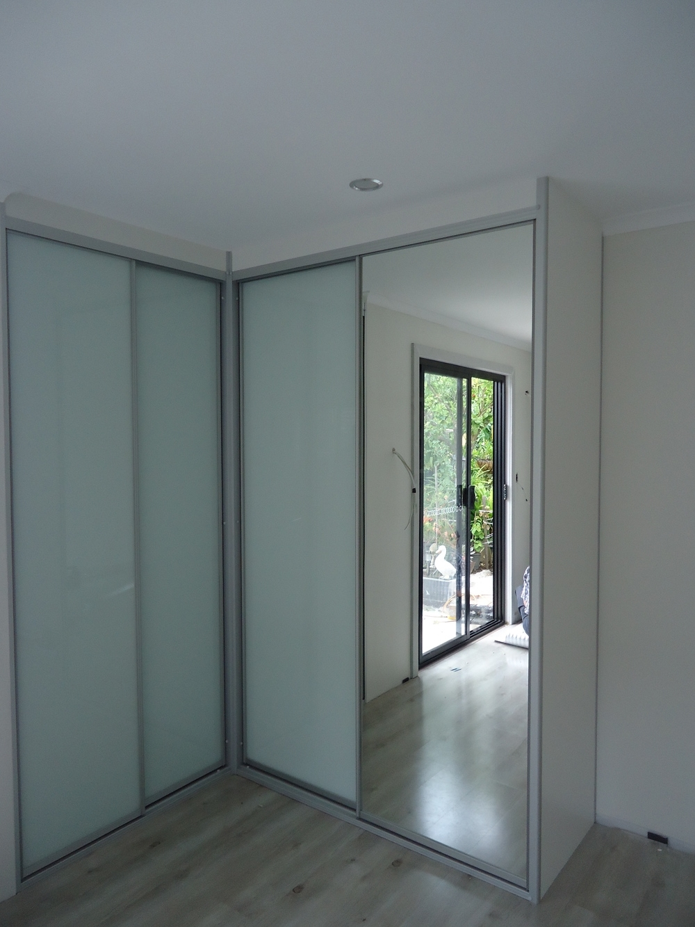 Contemporary Sliding Wardrobes — Quality Kitchens And Wardrobes With Best And Newest Corner Mirrored Wardrobes (View 6 of 15)