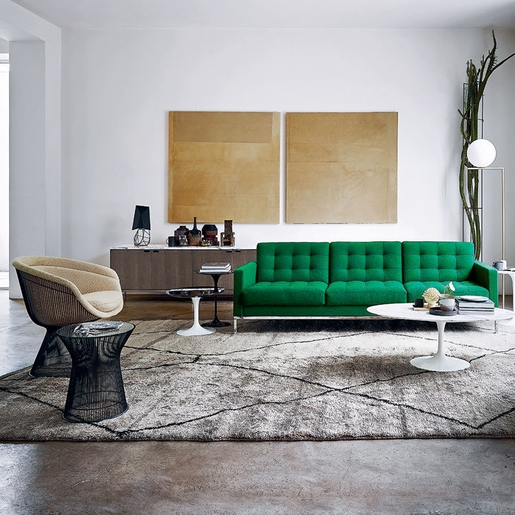 Contemporary Sofa / Fabric / Leather /florence Knoll – Relax Regarding Most Popular Florence Knoll Fabric Sofas (View 6 of 10)