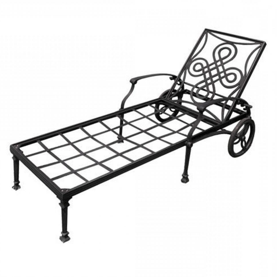 Convertible Chair : Pool Patio Lounge Chairs Portable Outdoor Intended For Best And Newest Wrought Iron Outdoor Chaise Lounge Chairs (View 1 of 15)