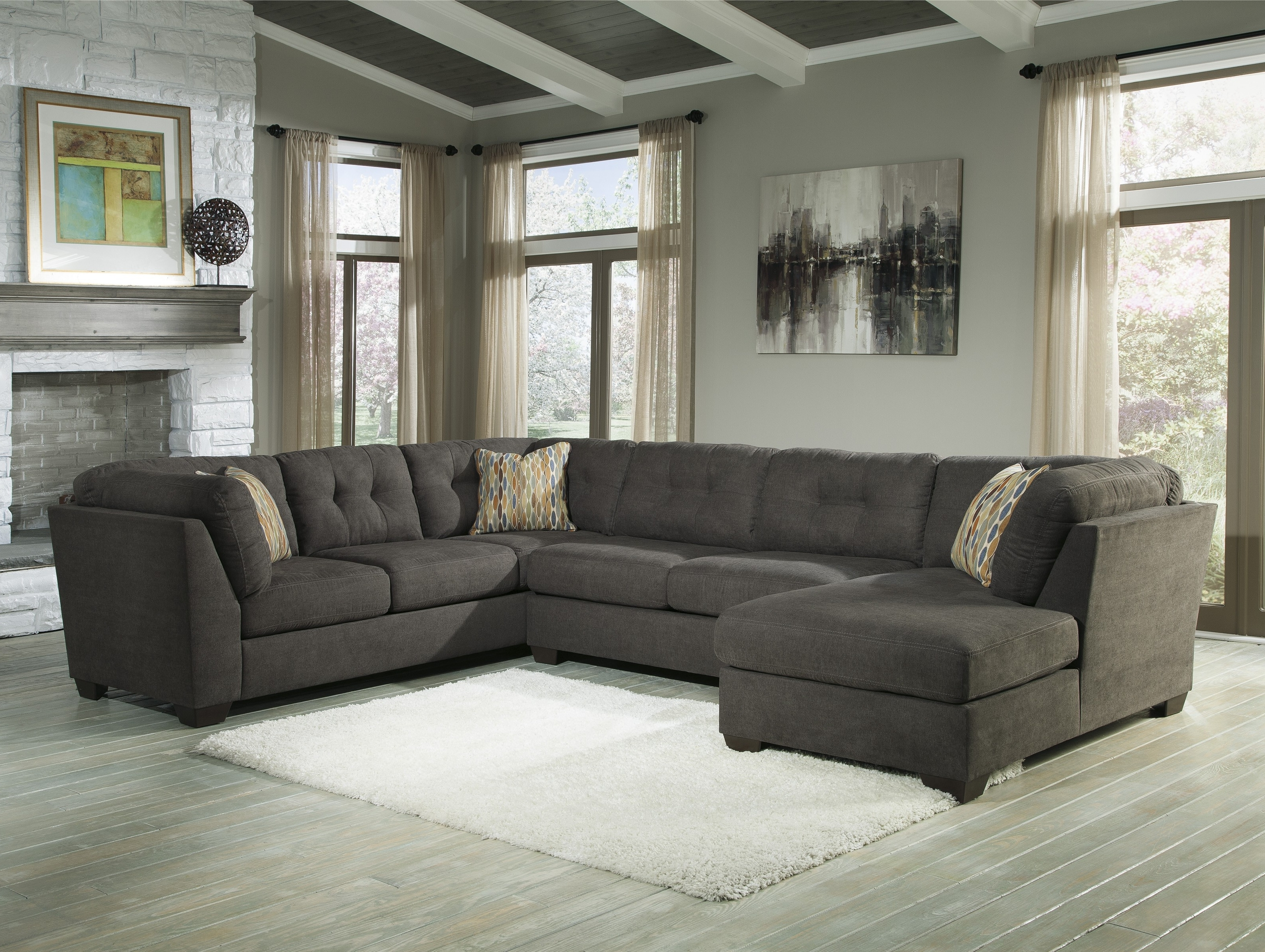 Corner Chaises Regarding 2017 Buy Delta City Sectional Sofa And Armless Loveseat With Laf Corner (View 5 of 15)