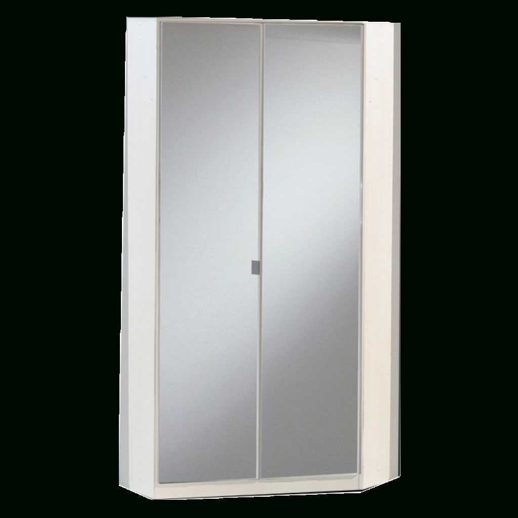Corner Mirror Wardrobes Intended For Recent Gamma White & Mirrored Corner Wardrobe (View 12 of 15)
