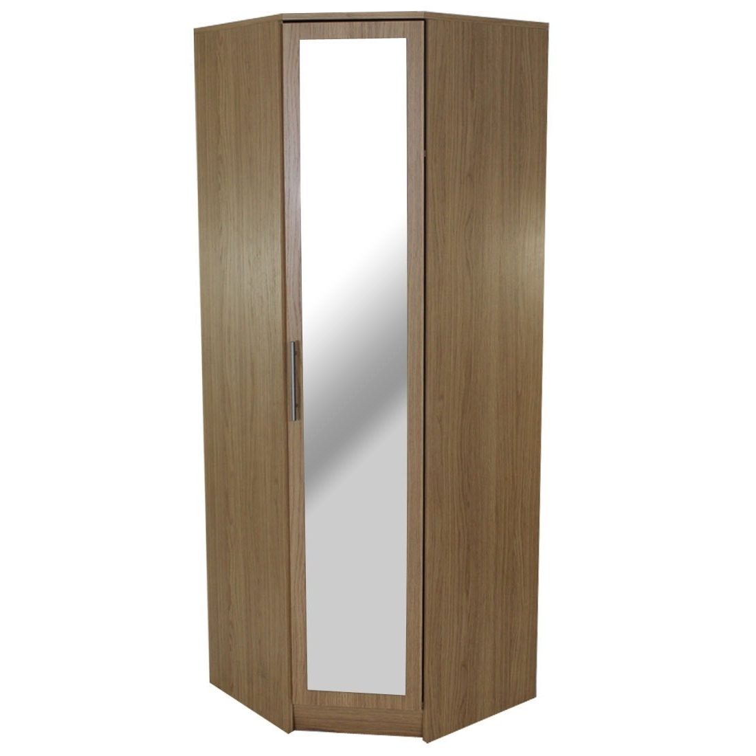Corner Mirror Wardrobes Pertaining To Widely Used Devoted2Home Humber Bedroom Furniture With 1 Door Mirrored Corner (View 4 of 15)