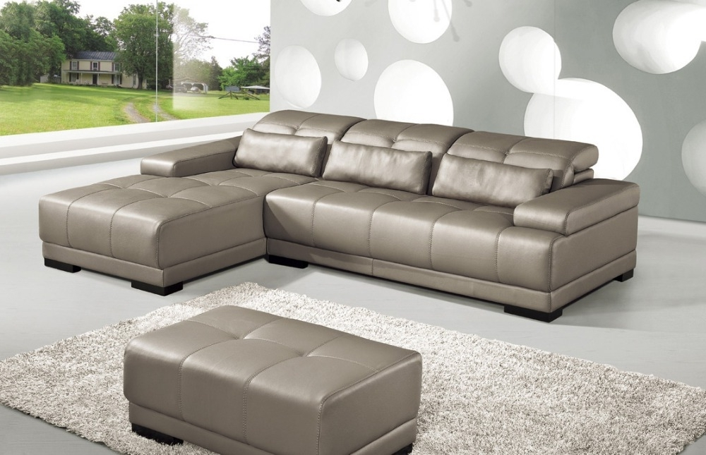 Corner Sofa Chairs Intended For Most Up To Date Cow Genuine Leather Sofa Set Living Room Sofa Furniture Couch (View 3 of 10)