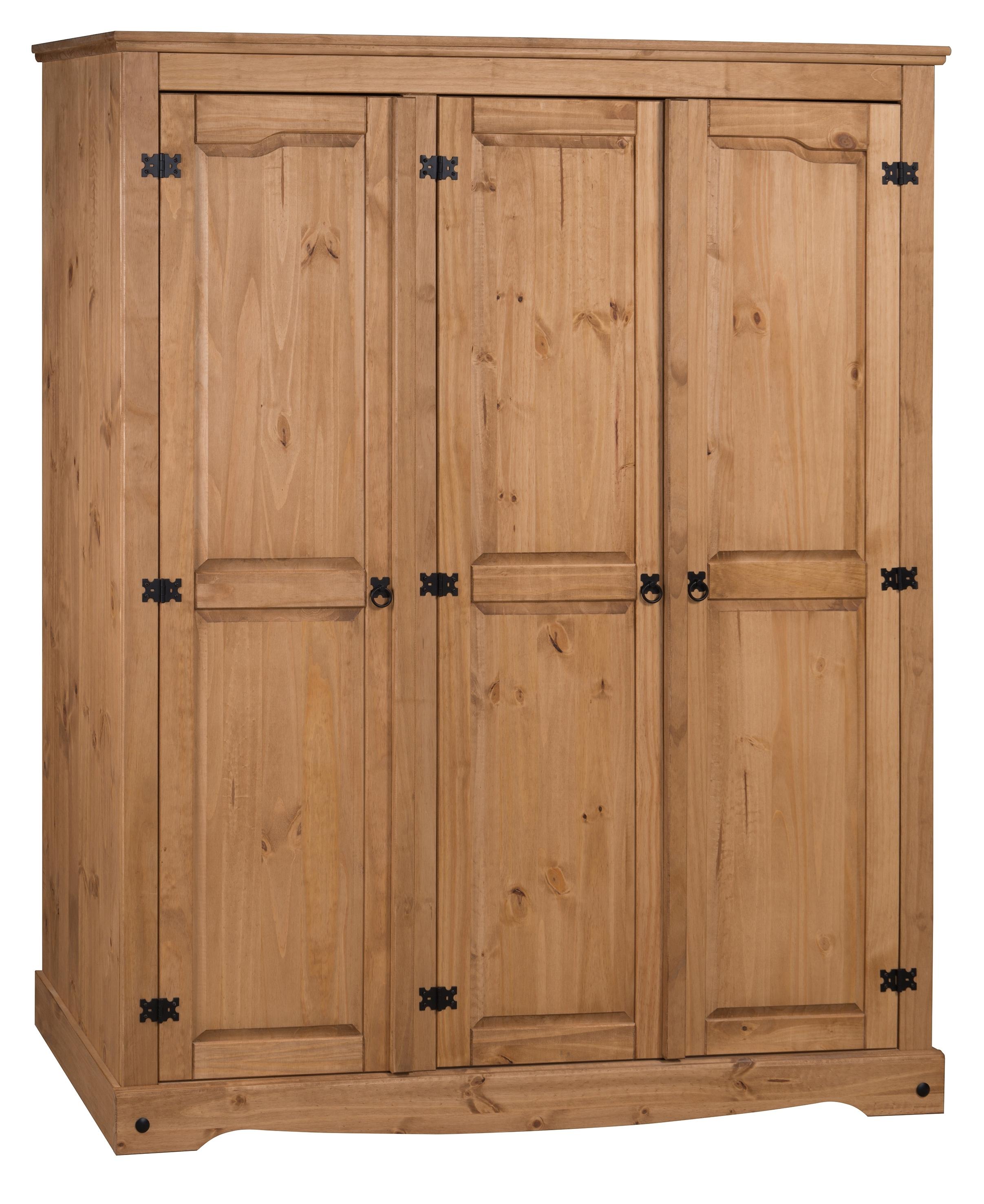 Corona 3 Door Flat Top Wardrobe Within Fashionable Corona 3 Door Wardrobes (View 11 of 15)