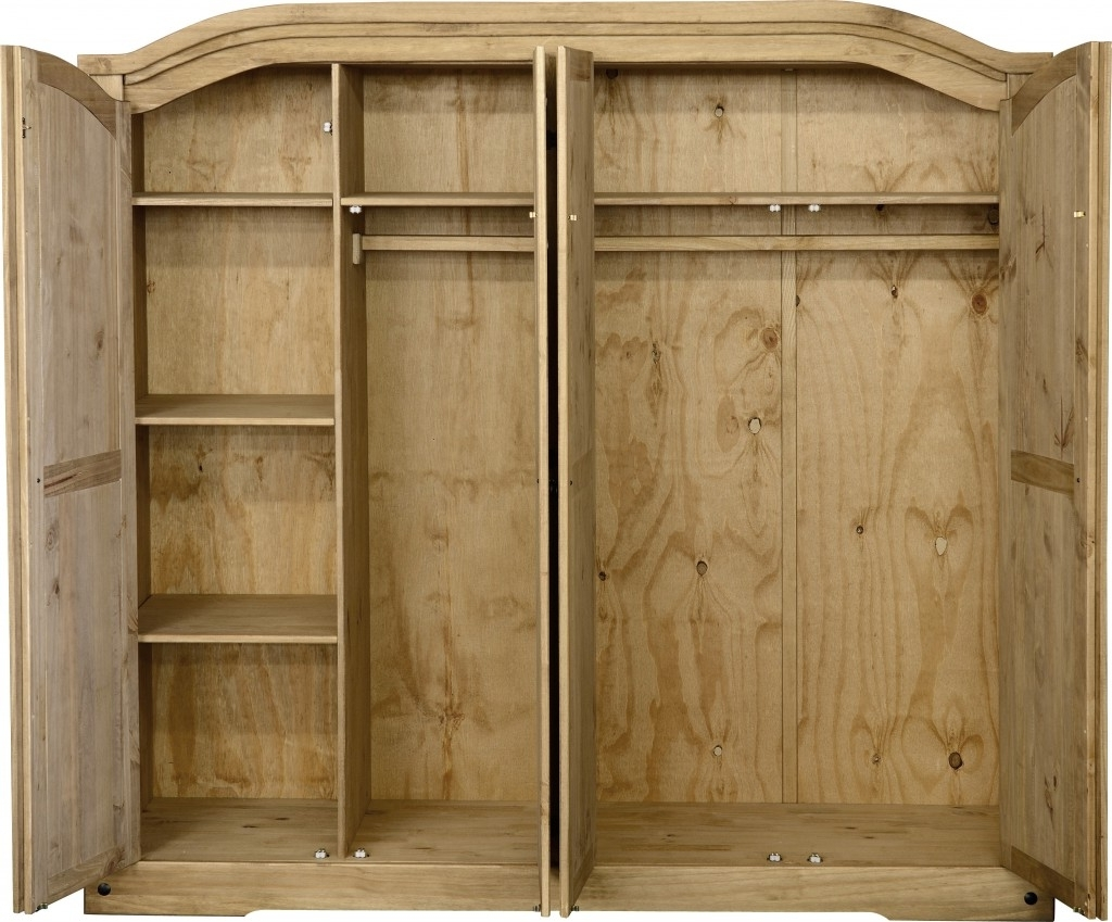 Corona 4 Door Wardrobe – Fall For Furniture With Recent Corona Wardrobes With 3 Doors (View 4 of 15)