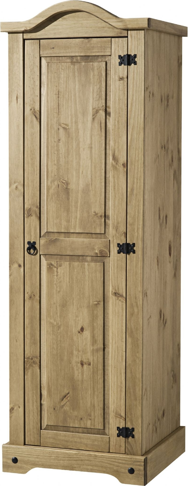 Corona Single One Mirrored Door 1 Drawer Armoire Wardrobe Within 2018 Pine Single Wardrobes (View 2 of 15)