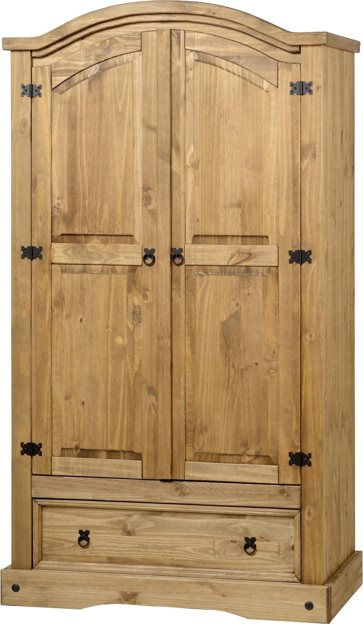 Corona Wardrobes With 3 Doors Inside Favorite Corona Pine 2 Door Wardrobe With Drawer – Default Store View (View 7 of 15)