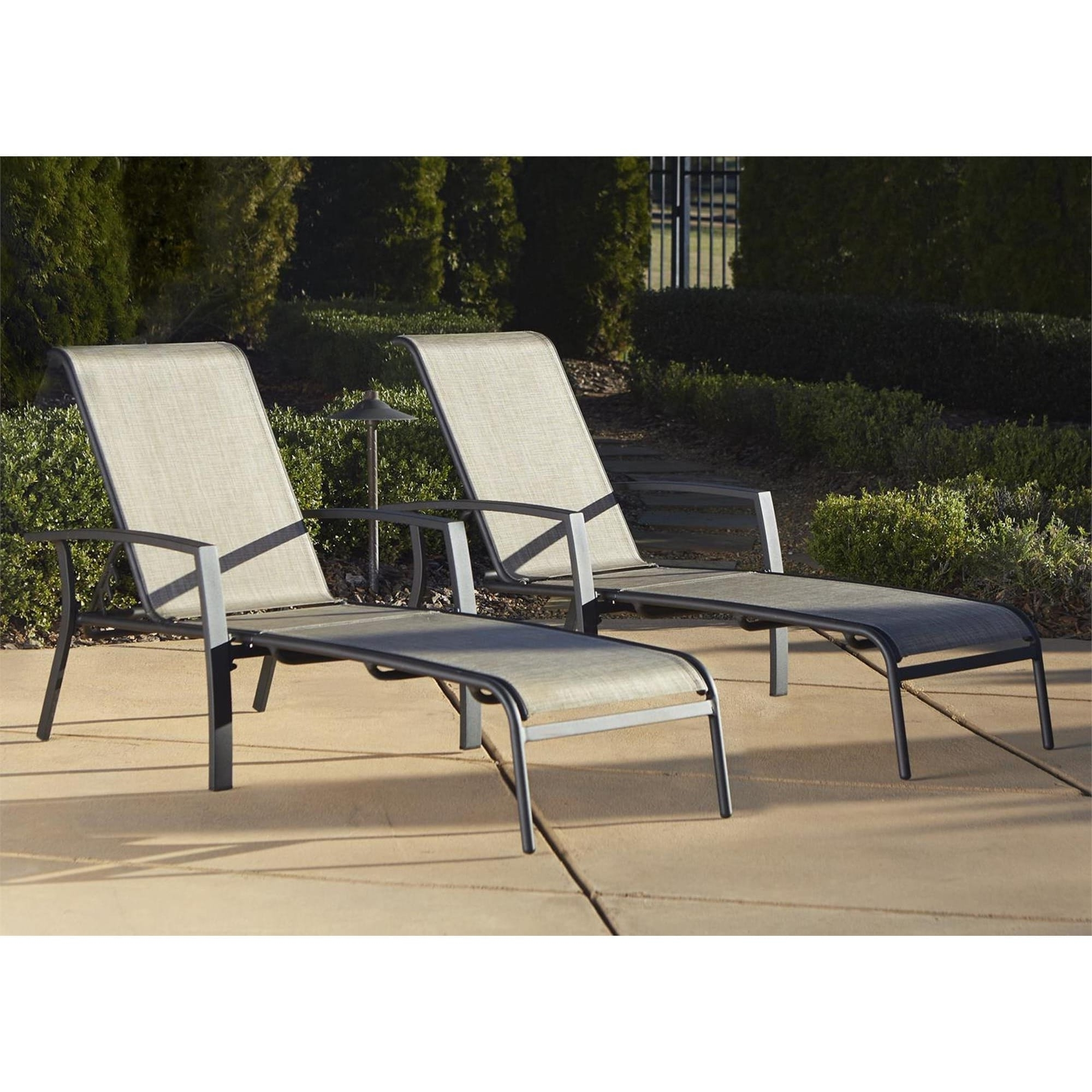 Cosco Outdoor Aluminum Chaise Lounge Chair (Set Of 2) – Free Regarding Well Liked Aluminum Chaise Lounge Outdoor Chairs (View 5 of 15)