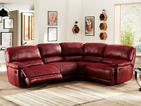 Couch And Recliner Set Lazy Boy Reclining Sofa Modern Red Leather With Favorite Red Leather Reclining Sofas And Loveseats (View 4 of 10)