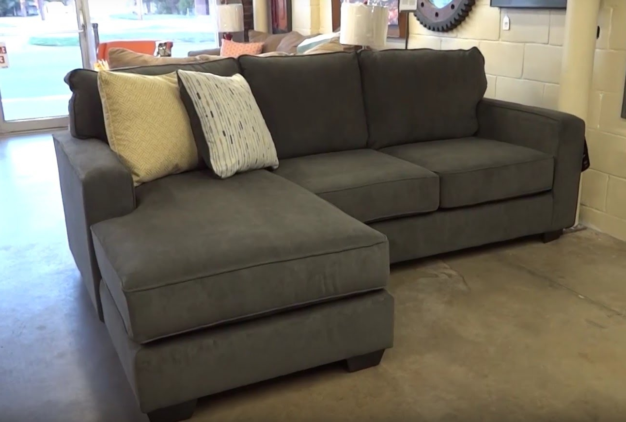 Couches With Chaise Throughout Favorite Ashley Furniture Hodan Marble Sofa Chaise 797 Review – Youtube (View 7 of 15)