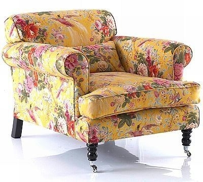 Country English – Pretty Yellow Chintz Chair Pertaining To Widely Used Chintz Sofas (View 4 of 10)