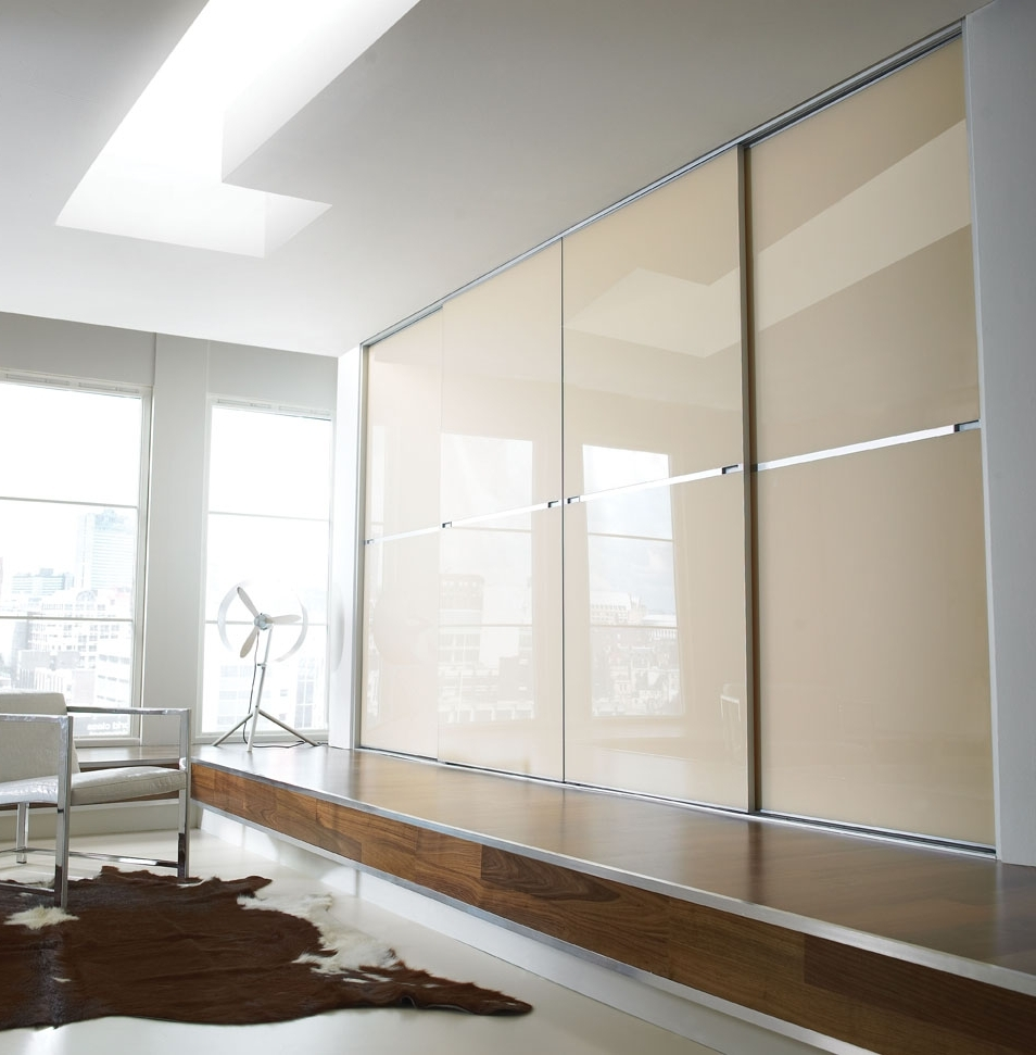 Cream Gloss Wardrobes Doors For Newest Fitted Bedroom Furniture Sliding Wardrobe Doors (View 2 of 15)
