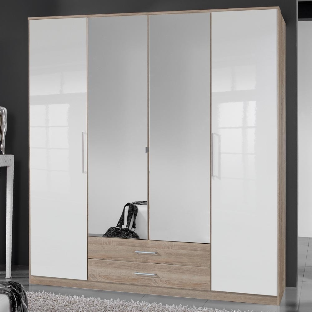 Cream Gloss Wardrobes Doors Intended For Well Known Furniture For Modern Living – Furniture For Modern Living (View 13 of 15)