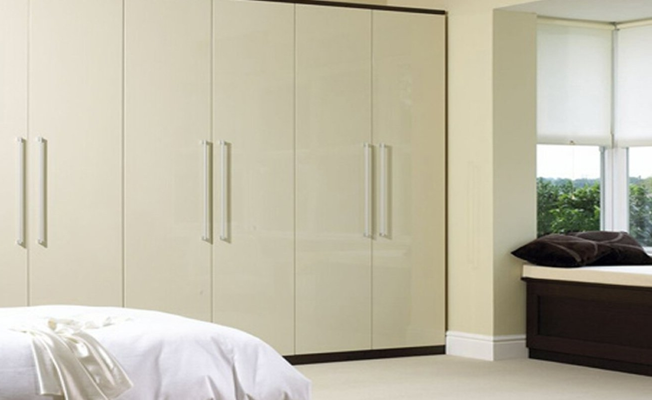 Cream Gloss Wardrobes Doors Pertaining To Popular Sliding Mirror Wardrobes Doors – Handballtunisie (View 3 of 15)