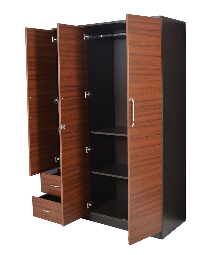 Crystal Furnitech Ritz 3 Door Wardrobe: Buy Online At Best Price Pertaining To Trendy 3 Door Wardrobes (View 13 of 15)