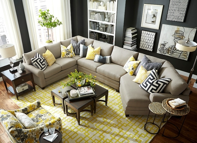 Cuddler Sectional Sofas Throughout Famous Hgtv Home Design Studio Cu (View 5 of 10)