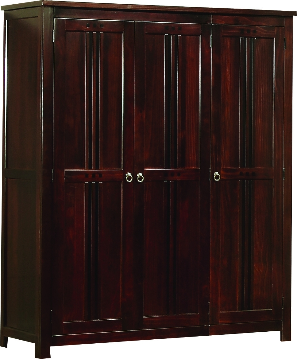 Curlew Three Door Wardrobe (View 4 of 15)