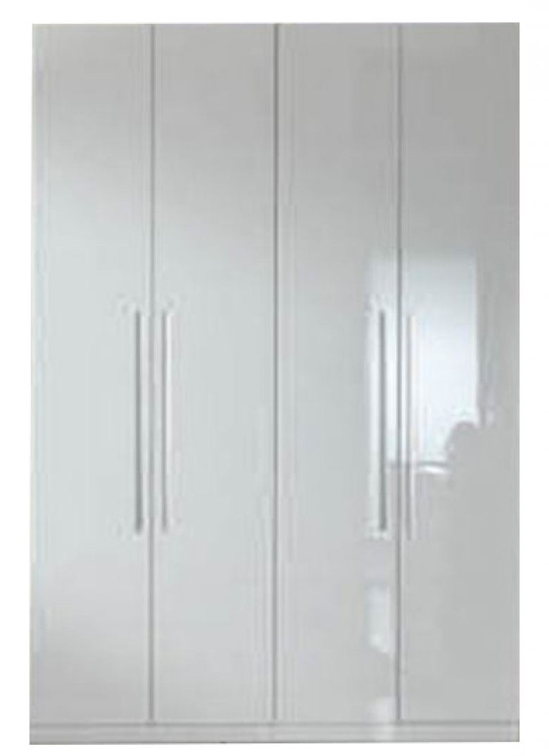 Current 4 Door White Wardrobes In Esf Esf Furniture Momo 4 Door Wardrobe In White – Momo Collection (View 6 of 15)