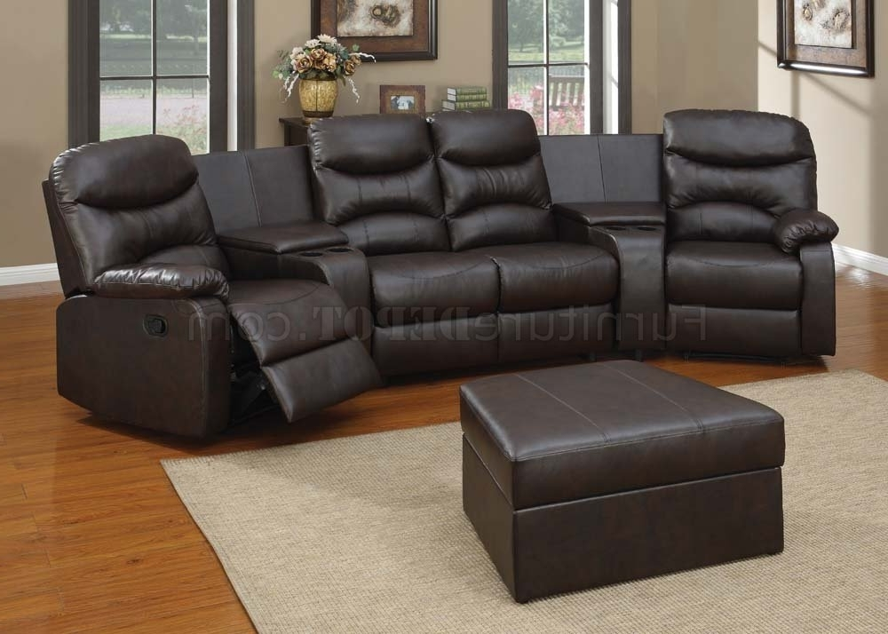 Current 50110 Spokane Home Theater Sectional Sofa In Brownacme For Theatre Sectional Sofas (View 2 of 10)