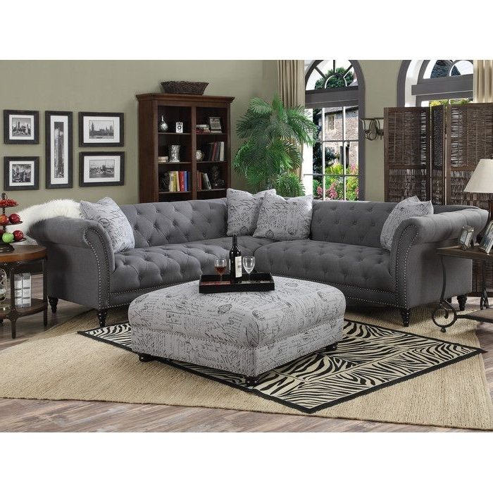 Current Based Off The Design A Classic Chippendale Sofa, This Traditional Pertaining To Tufted Sectional Sofas (View 4 of 10)