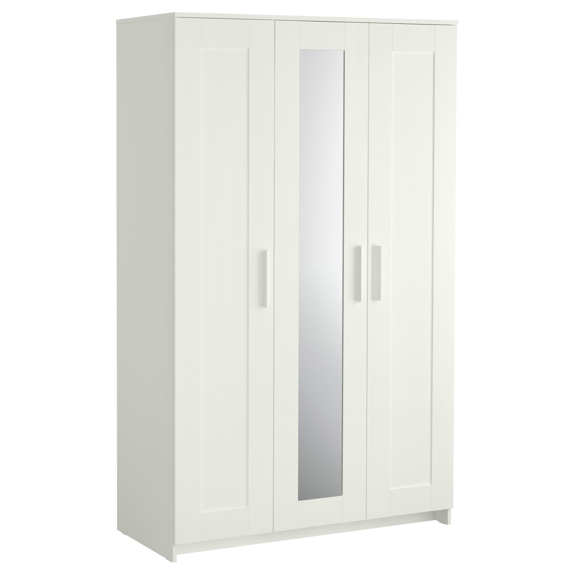 Current Brimnes Wardrobe With 3 Doors – White – Ikea Inside White 3 Door Wardrobes (View 13 of 15)