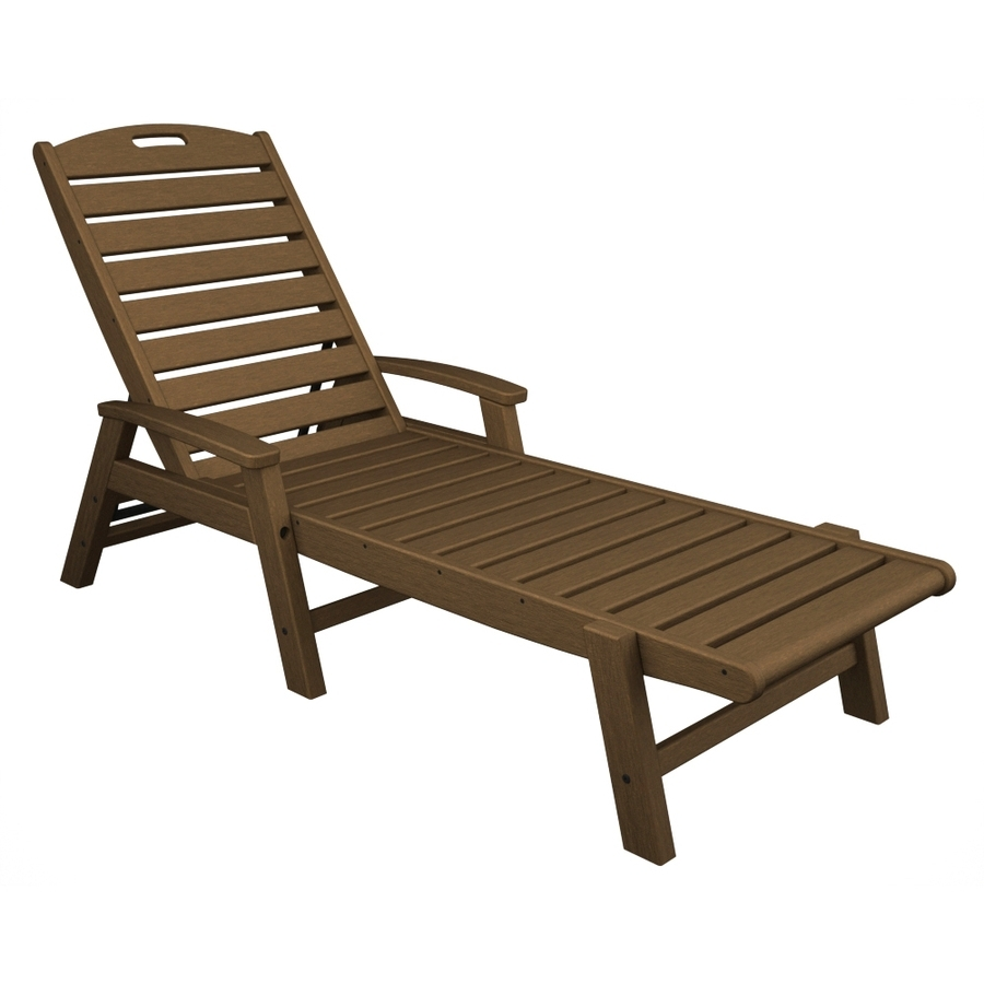 Current Chaise Lounge Chairs At Lowes With Shop Trex Outdoor Furniture Yacht Club Tree House Plastic Patio (View 7 of 15)