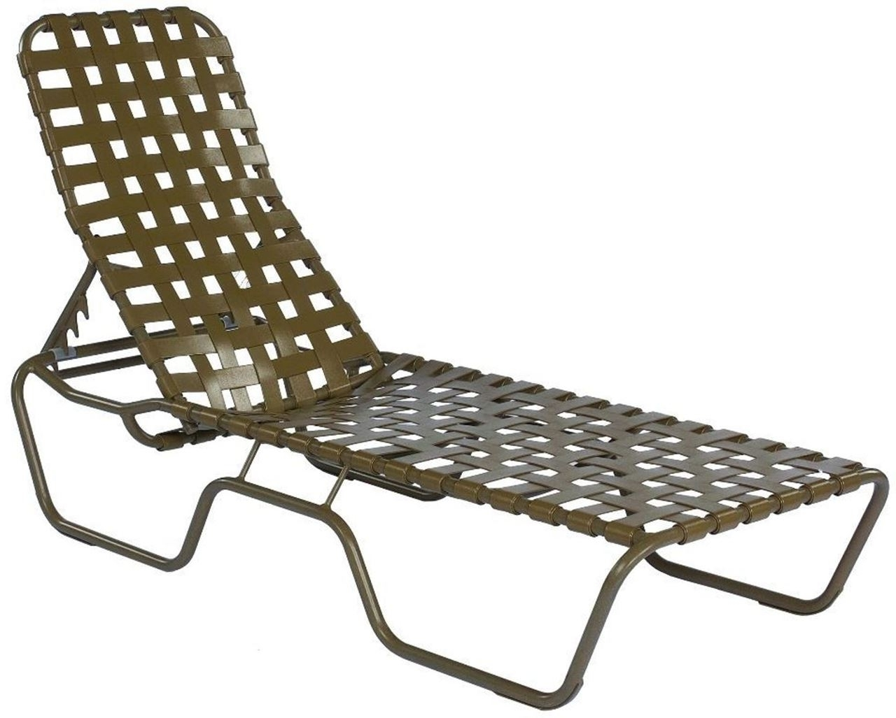 Current Chaise Lounge Strap Chairs Regarding Commercial Basketweave Strap Chaise Lounge Sanibel Stacking (View 5 of 15)