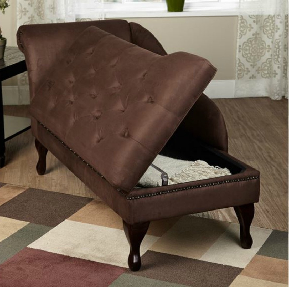 Current Chaise Lounges With Storage Within Amazon: Modern Storage Chaise Lounge Chair – This Tufted (View 10 of 15)