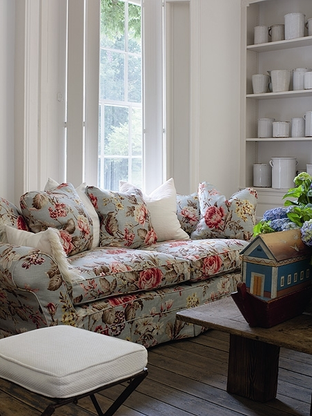 Current Chintz Sofas In Andrew Martin Fabric In Duck Egg, Available At Http://www (View 2 of 10)