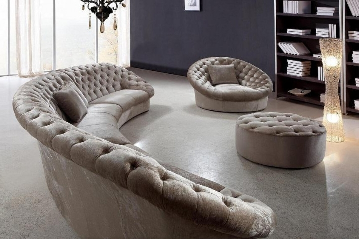 Current Circular Sectional Sofas Pertaining To Sofa Beds Design: Wonderful Modern Circular Sectional Sofas Design (View 6 of 10)