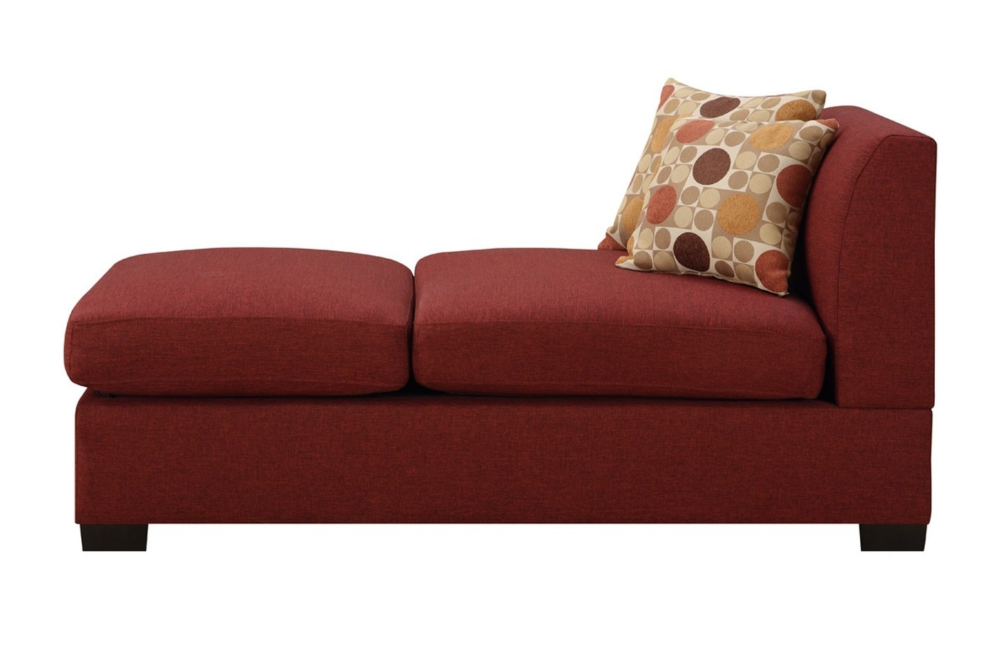 Current Fabric Chaise Lounge Chairs In Red Fabric Chaise Lounge – Steal A Sofa Furniture Outlet Los (View 3 of 15)