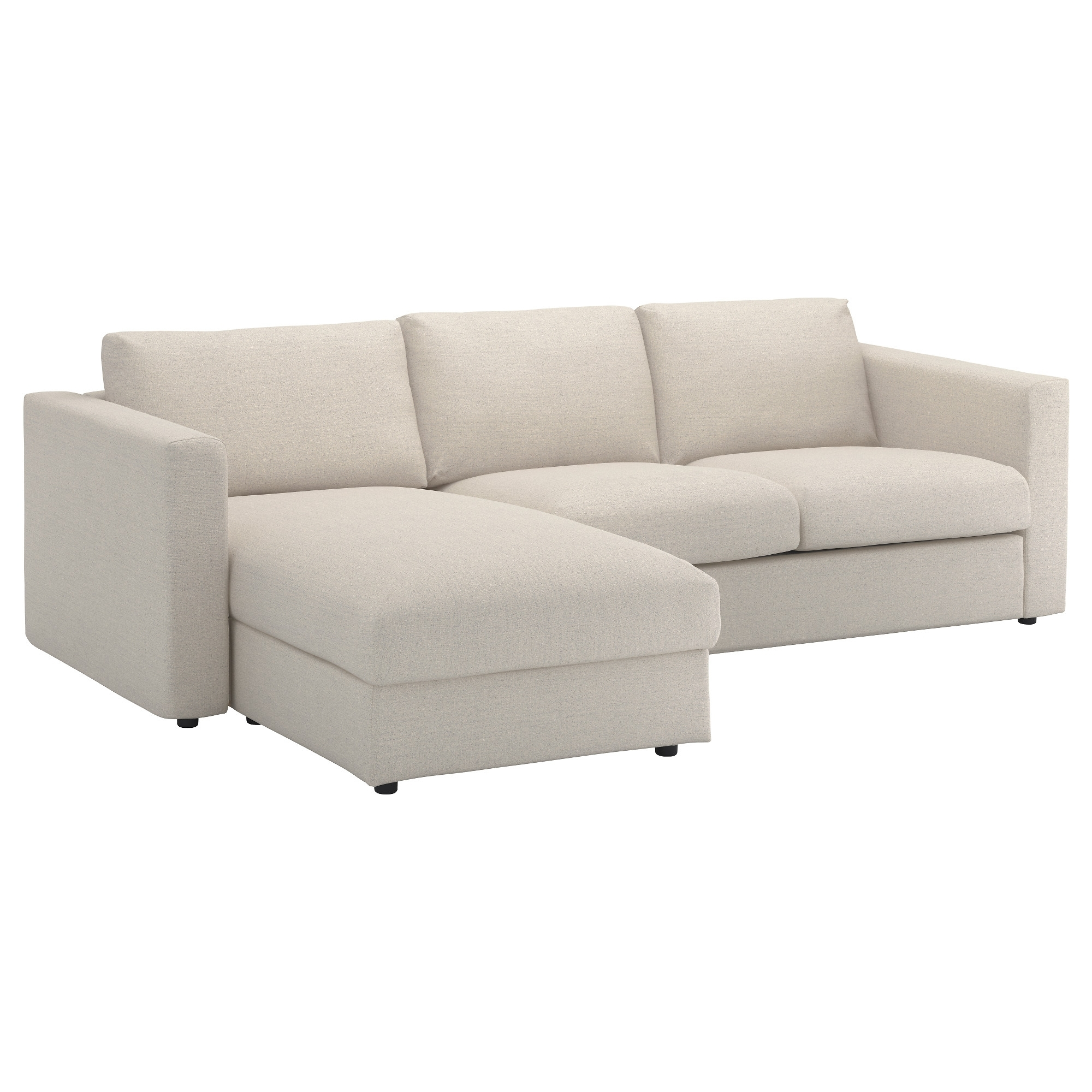 Current Ikea Chaise Couches Inside Vimle Sofa – With Chaise/gunnared Beige – Ikea (View 4 of 15)