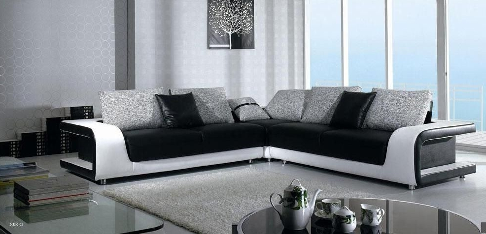 Current Leather L Shaped Sectional Sofas Intended For Elegant Quality Leather L Shape Sectional With Pillows Mobile (View 2 of 10)