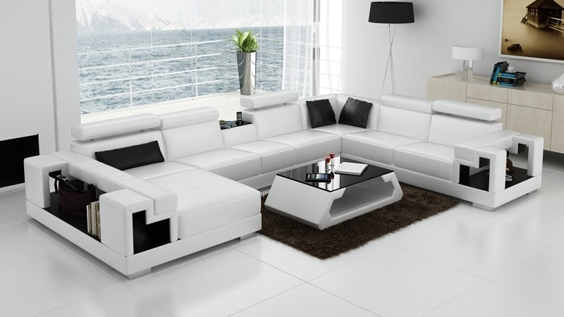Current Olympian Sofas Novara White Leather Corner Sofa – Sectional Sofas With White Leather Corner Sofas (View 2 of 10)