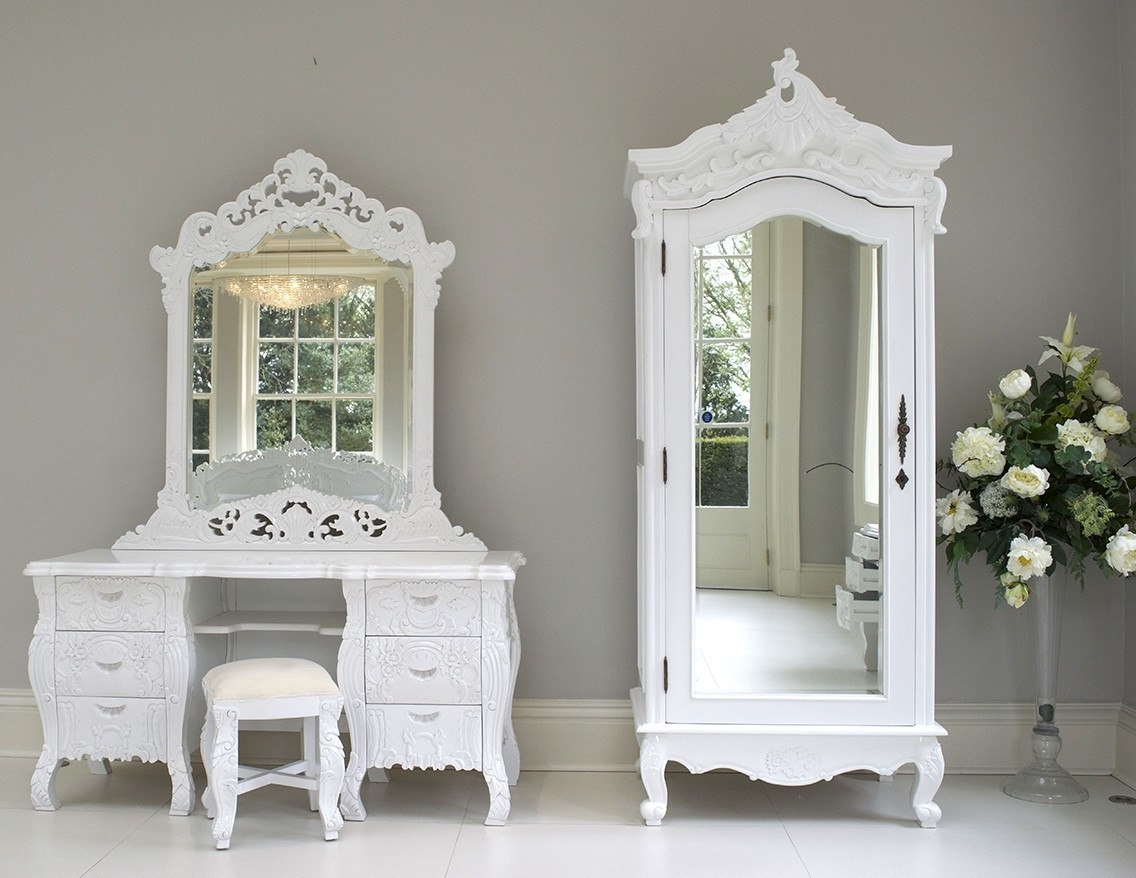 Current Rococo Wardrobes In White French Style Wardrobe Basics Chairs Auckland Wardrobes In (View 2 of 15)